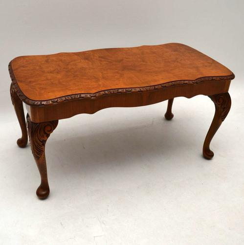 Burr Walnut Coffee Table c.1920 (1 of 1)