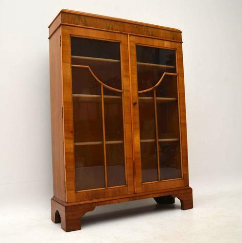 Antique Walnut Two Door Bookcase C.1890 (1 of 1)