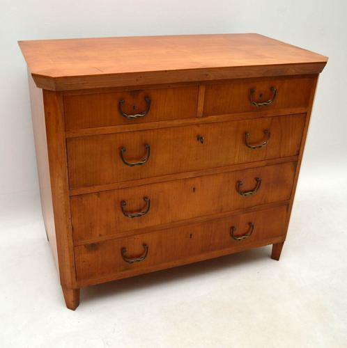 Antique Swedish Satin Birch Chest of Drawers c.1890 (1 of 1)