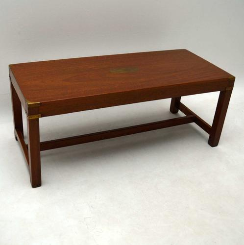 Mahogany Military Campaign Coffee Table c.1950 (1 of 1)