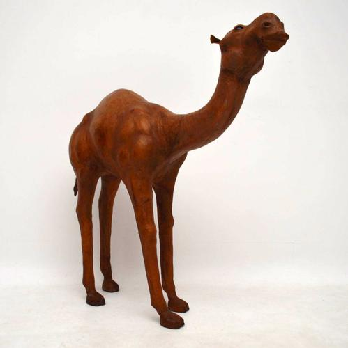 Antique Leather Camel from Liberty of London c.1910 (1 of 1)