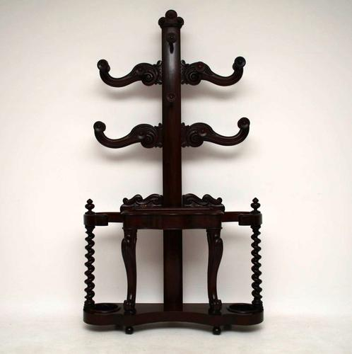 Antique Early Victorian Mahogany Hall Stand (1 of 1)