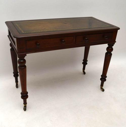 Antique Victorian Mahogany Writing Table Desk (1 of 1)