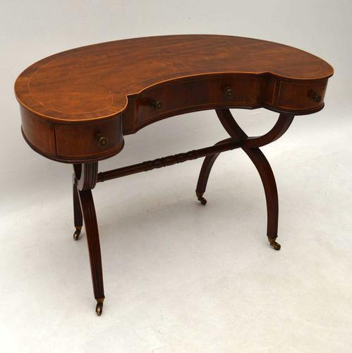 Antique Mahogany Kidney Shaped Desk or Dressing Table (1 of 1)