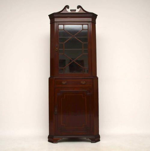 Antique Edwardian Inlaid Mahogany Corner Cabinet (1 of 1)