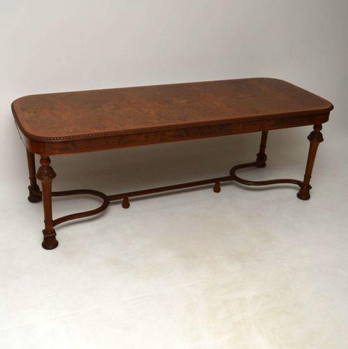 Large Burr Walnut Dining Table c.1920 (1 of 1)