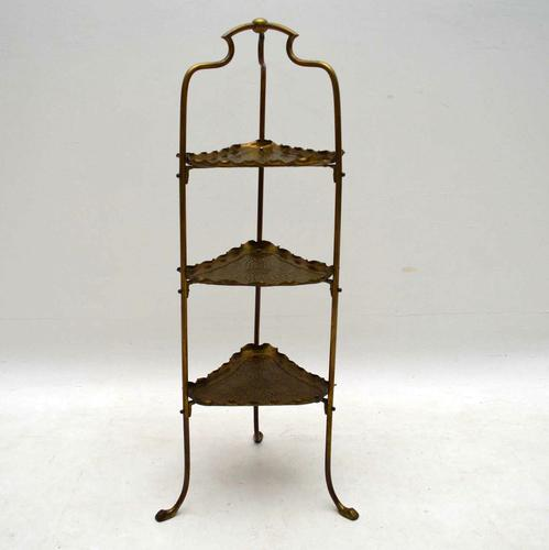 Antique Brass Cake Stand by Samuel Heath & Sons (1 of 1)