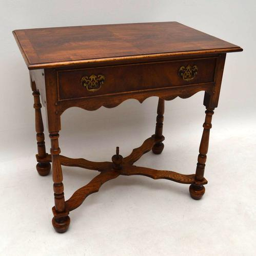 William & Mary Style Walnut Side Table (1 of 1)