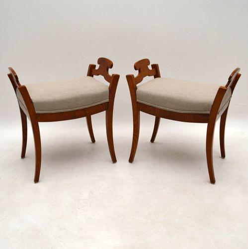 Pair of Antique Swedish Biedermeier Stools (1 of 1)