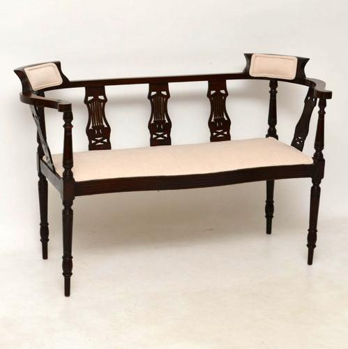Antique Edwardian Inlaid Mahogany Sofa (1 of 1)