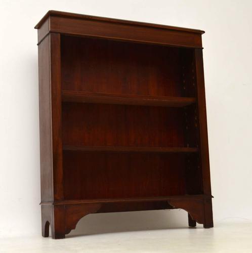 Antique Edwardian Mahogany Open Bookcase (1 of 1)