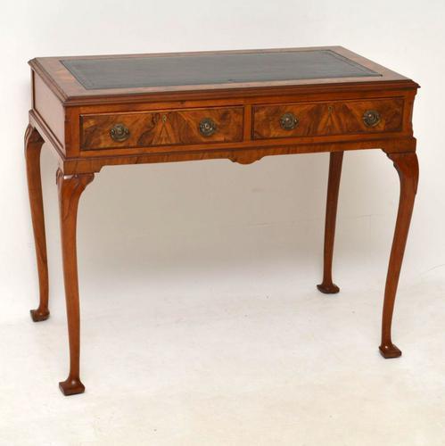 Antique Burr Walnut Writing Table / Desk c.1910 (1 of 1)