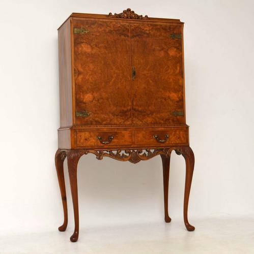 Queen Anne Walnut Cocktail Cabinet c.1920 (1 of 1)