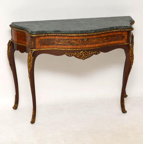 French Marble Top Ormolu Mounted Console Table c.1930 (1 of 1)