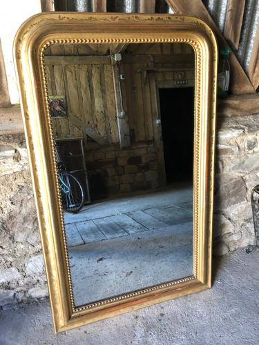 Large French Gilt Mirror c.1860 (1 of 3)