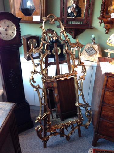 Large Regency Oak Gilded Mirror (1 of 1)