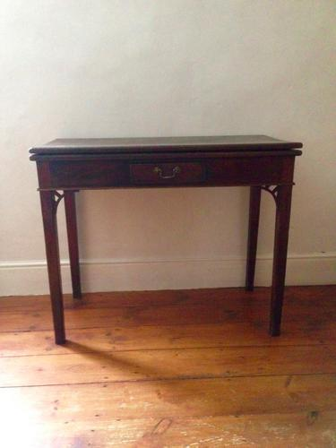 Georgian Oak Fold-Over Tea Table C.1780 (1 of 1)