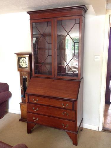 Edwardian Mahogany Bureau Bookcase c.1905 (1 of 1)