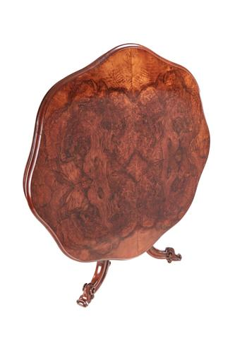 Fine Quality Burr Walnut Shaped Centre Table c.1850 (1 of 9)