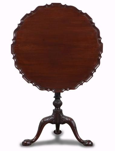 Chippendale Style Mahogany 'birdcage' Tripod Table c.1900 (1 of 1)