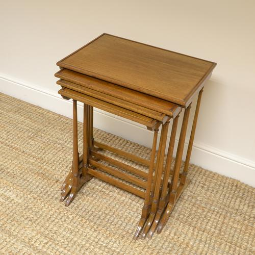Edwardian Mellow Walnut Nest of Four Antique Tables (1 of 6)