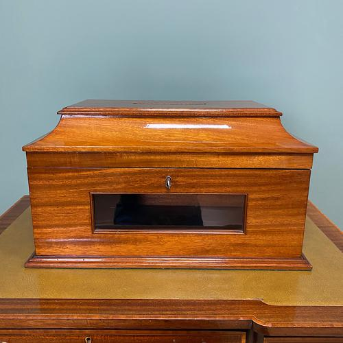 Striking Victorian Mahogany Antique Letter Box (1 of 5)