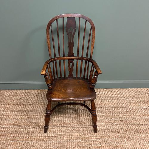 Victorian Country Oak Antique Windsor Chair (1 of 8)