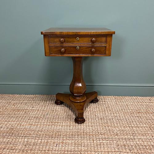 Elegant Victorian Mahogany Antique Occasional Side / Lamp Table (1 of 7)