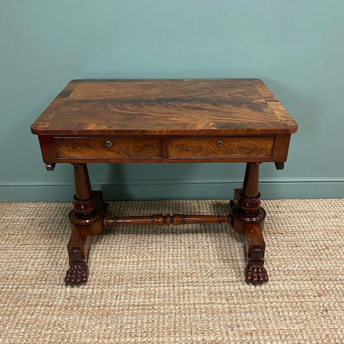 High Quality William IV Mahogany Antique Side Writing Table (1 of 7)