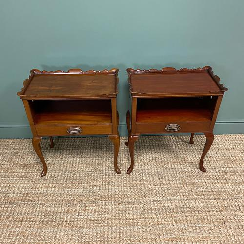 Pair of Edwardian Mahogany Antique Bedside Tables / Cabinets by Morison & Co (1 of 8)