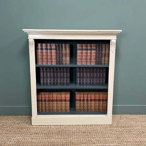 Quality Victorian Painted Antique Open Bookcase (1 of 5)