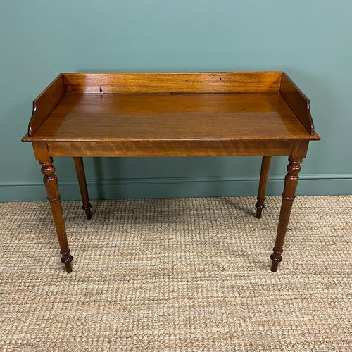Quality Victorian Mahogany Antique Side / Writing Table (1 of 6)