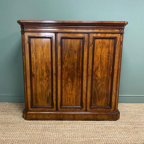 Lamb of Manchester Antique Walnut Cupboard (1 of 8)