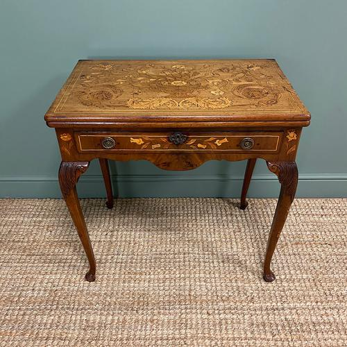 Rare 18th Century Dutch Marquetry Inlaid Antique Games Table. (1 of 11)