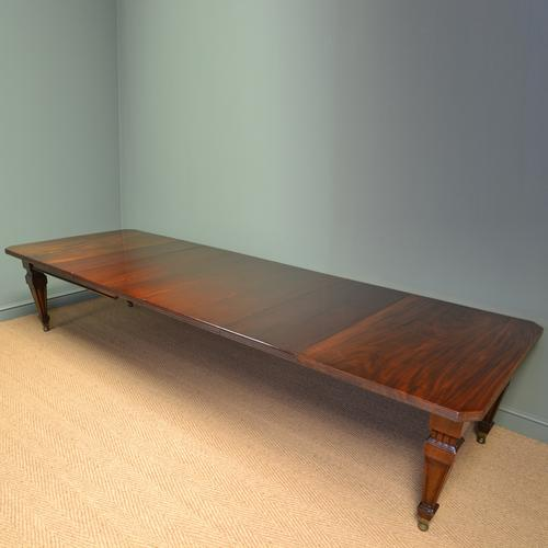 Spectacular Quality Huge 12ft Victorian Mahogany Antique Extending Wind Out Dining Table (1 of 1)