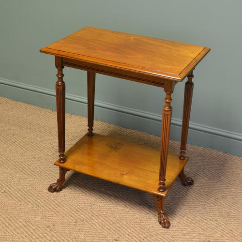 Unusual Victorian Walnut Shoolbred Antique Occasional / Lamp Table (1 of 1)