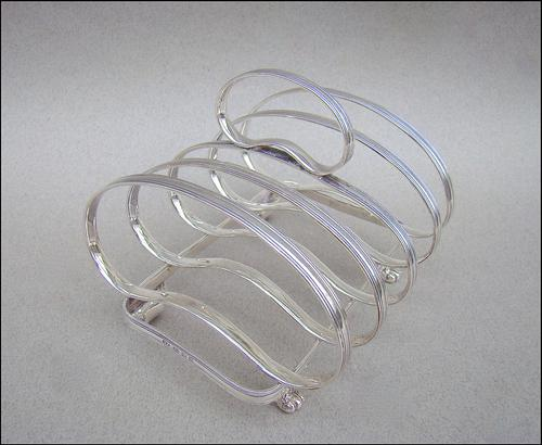 Large George V Silver Toast Rack by Josiah Williams & Co, London 1933 (1 of 6)