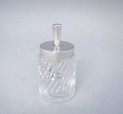 Edwardian Silver Mounted Cut Glass Glue Pot by John Grinsell & Sons, Birmingham 1903 (1 of 4)