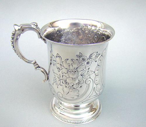 Victorian Silver Christening Mug by Hilliard & Thomason, Birmingham 1877 (1 of 6)