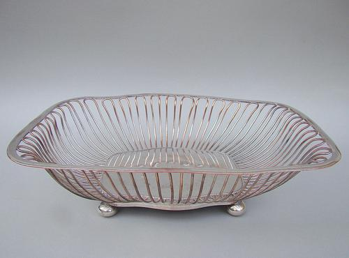 Georgian Old Sheffield Plate Wirework Bread Basket c.1800 (1 of 5)