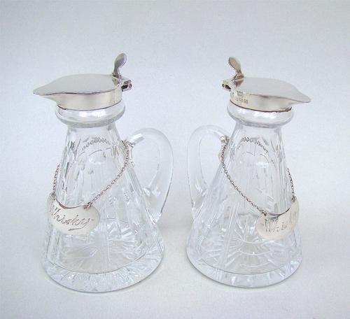 Fabulous Pair of Art Deco Silver Mounted Whisky Tots by Mappin & Webb, Birmingham 1936 (1 of 12)