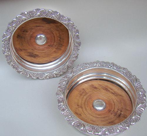 Pair of William IV Old Sheffield Plate Wine Coasters c.1835 (1 of 5)