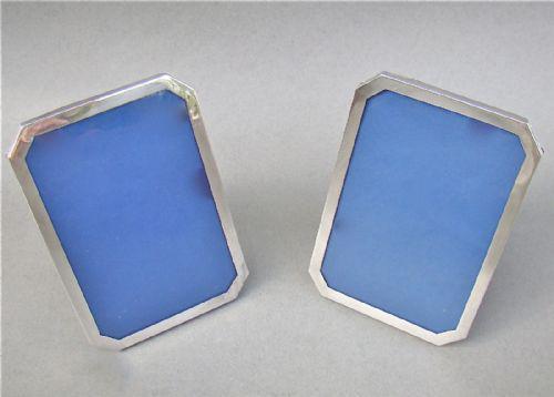 Pair of Art Deco silver frames by Baldwin & Marriot, Birmingham 1924 (1 of 1)