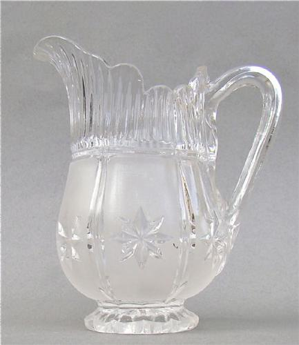 Victorian frosted glass cream jug, circa 1880 (1 of 1)