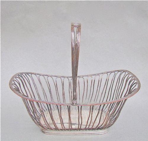 Georgian Old Sheffield Plate wirework cake basket, circa 1800 (1 of 1)