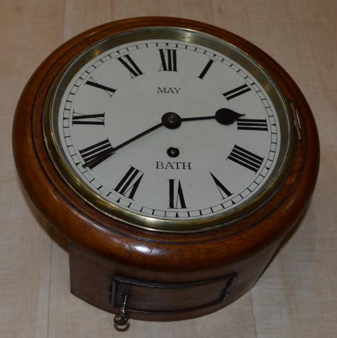 "Rare 8"" Dial Fusee Wall Clock May of Bath (1 of 3)"