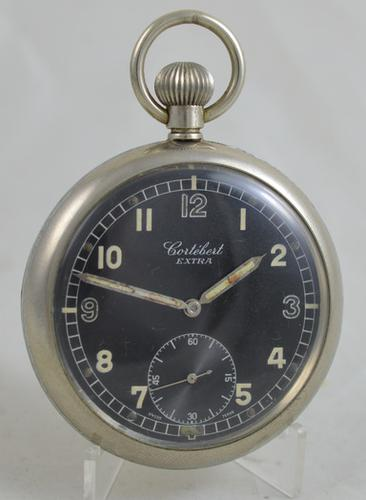 WWII Cortebert Gstp Pocket Watch (1 of 4)