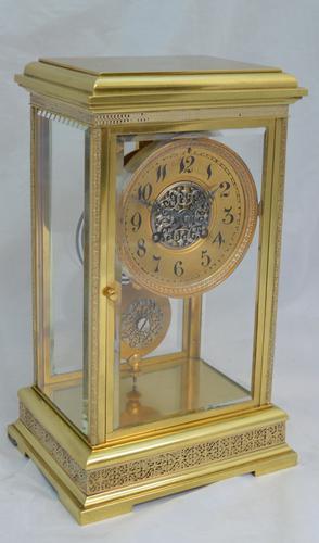 Four Glass Mantel Clock by Marti of Paris c.1900 (1 of 5)
