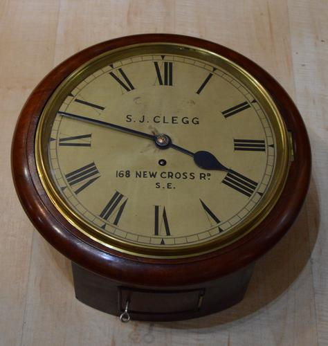 English Fusee Wall Clock, Clegg, London (1 of 4)