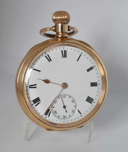 Waltham 1908 Gold Plated Pocket Watch (1 of 3)